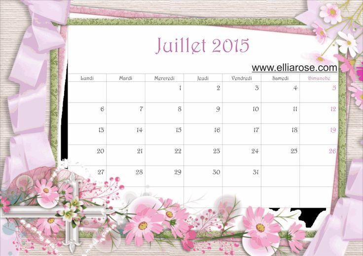 Calendrier Ellia Rose www.elliarose.com