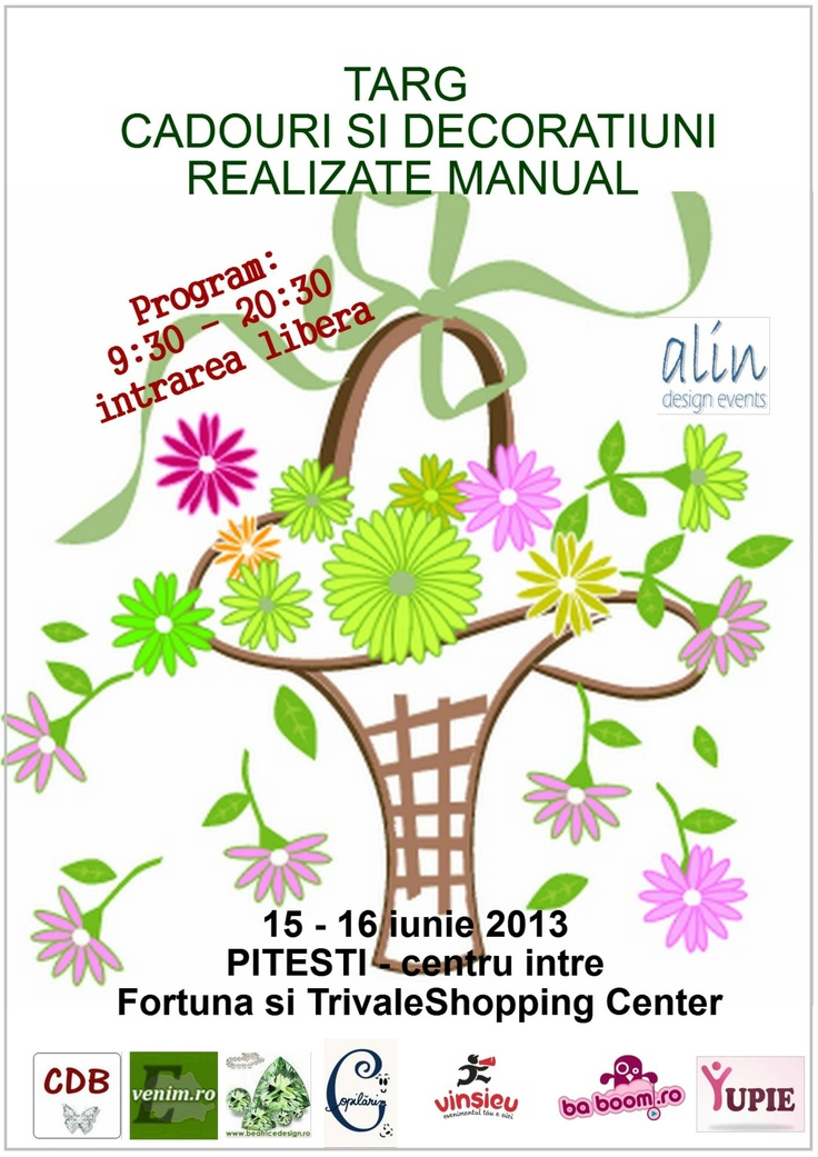 Targ de cadouri si decoratiuni realizate manual - 15-16 iunie - Pitesti