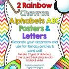Here are two bright and colorful rainbow chevron alphabets to decorate your classroom walls, literacy centers, writing center or word wall with cut...