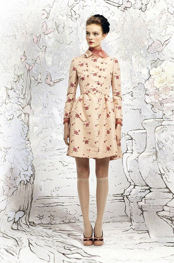 Floral coat by Red Valentino, so lovely.