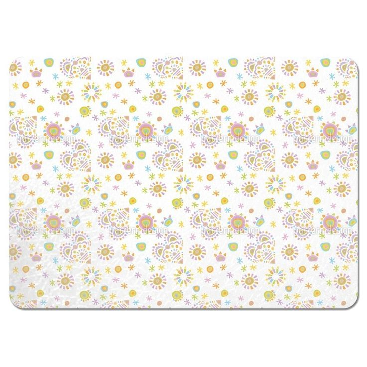 Uneekee Gipsy Heart White Placemats (Set of 4) (Gipsy Heart White Placemat) (Polyester, Kids)