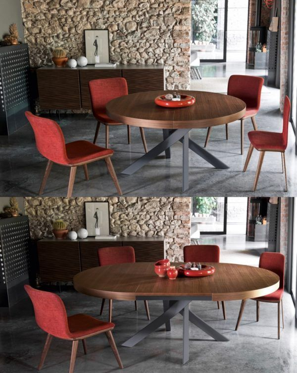 41 Extendable Dining Tables To Maximize Your Space Round Extendable Dining Table Extendable Dining Table Expandable Dining Table