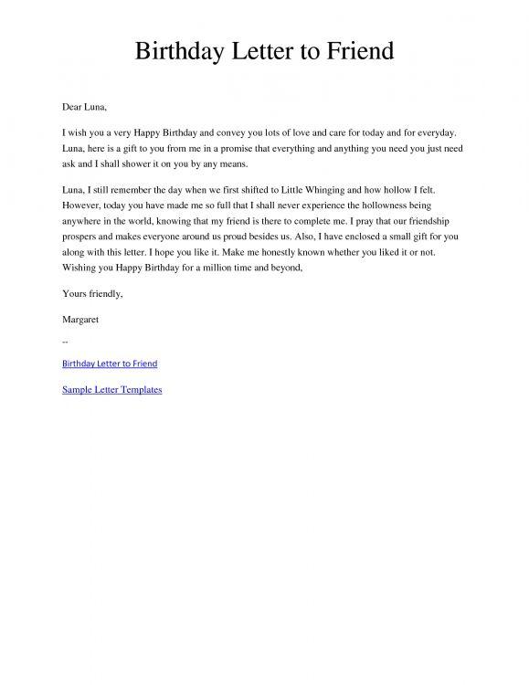 Best friend letter samples poemdocor happy birthday best friend letter tagalog 2018 format spiritdancerdesigns Images