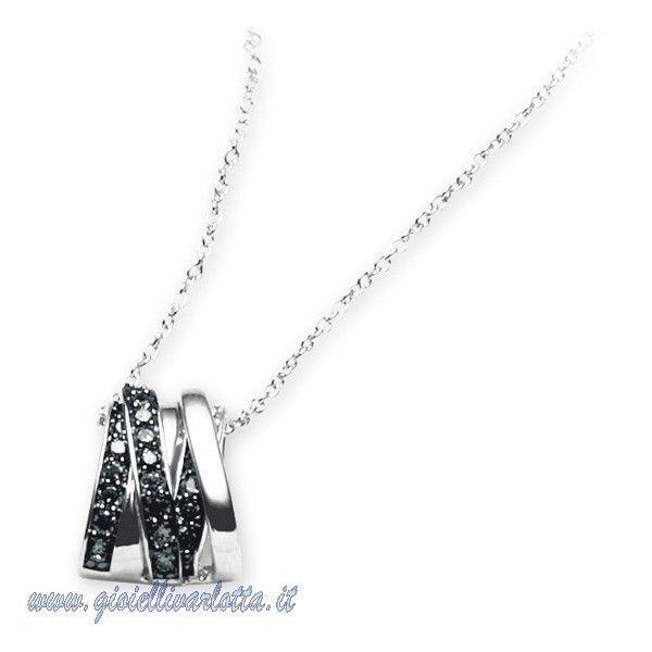 2JEWELS 253061 COLLANA 2 jewels ARGENTO e Zirconi Neri