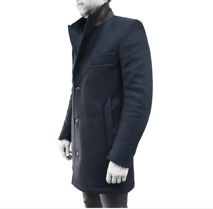 Koll3kt Superior Goods   KODIAK TOPCOAT Wool Coat with nylon removable insert-collar and our signature personalised YKK Aquaguard Zippers