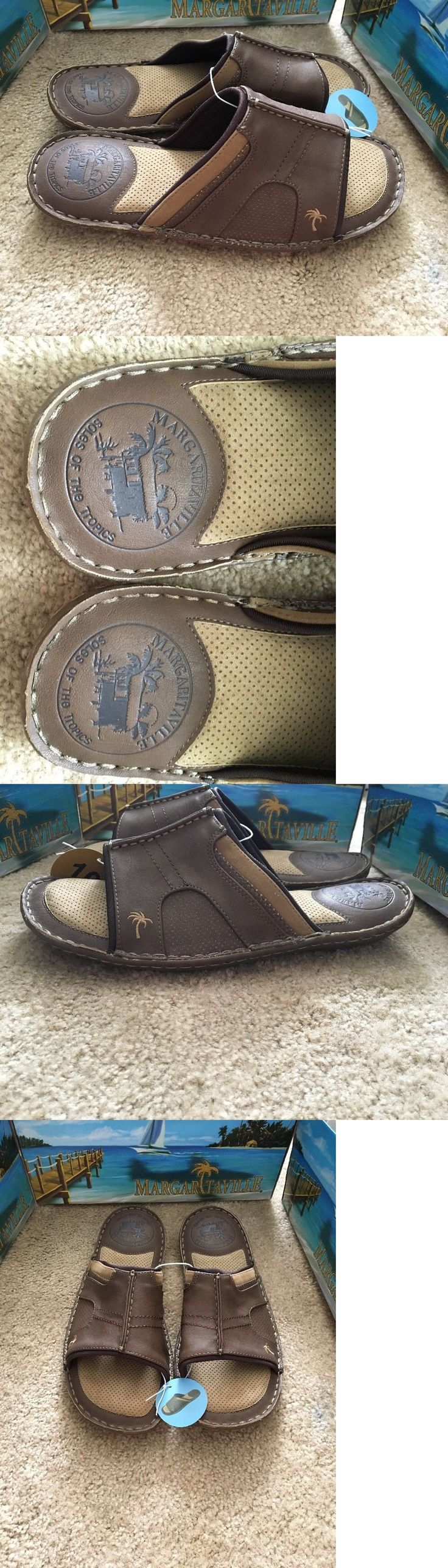 Sandals and Flip Flops 11504: New Margaritaville Brown Grove Slide Flip Flops Sandals Grove Mens Size 10 11 12 -> BUY IT NOW ONLY: $32 on eBay!