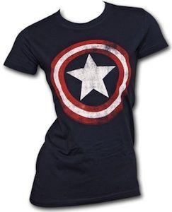 Captain America Shield Baby Doll T-Shirt
