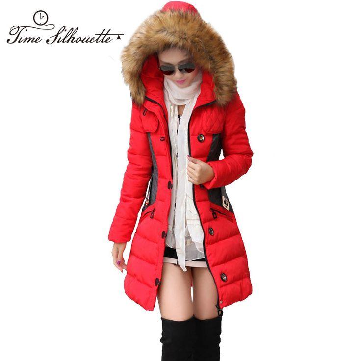 Купить Новый Зимняя Куртка Женщины Парка Пальто Abrigos у Chaquetas Mujer зима…