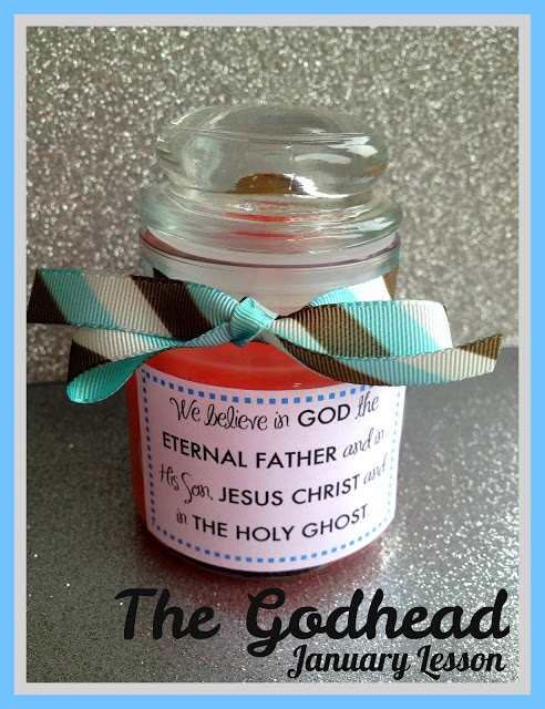 A great object lesson with a candle for teaching about the Godhead a - lots of good ideas on her blog *