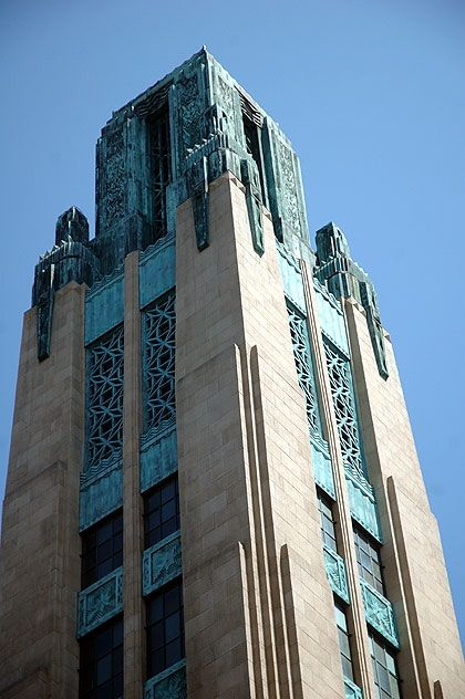 Bullocks Wilshire, 3050 Wilshire Boulevard – the famous Art Deco department store built by Los Angeles architects John and Donald Parkinson in 1929. ** My grandfather, Jock Peters, did the interiors, furnishings, and elevator doors, setting the tone for the first two floors of the building, now declared a cultural monument.**