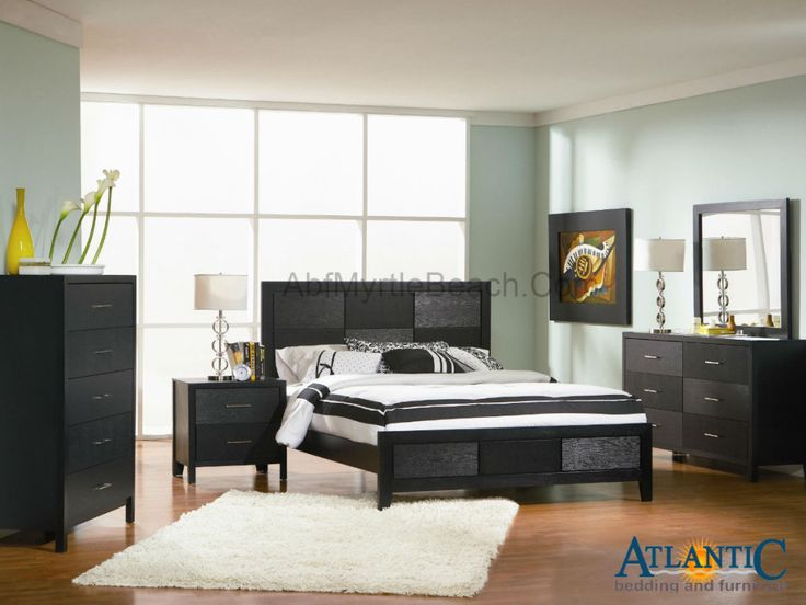 sleek bedroom furniture. unique wood grain patterns a sleek black finish and silver toned accent hardware make this bedroom group fashionable array of functional furniture f