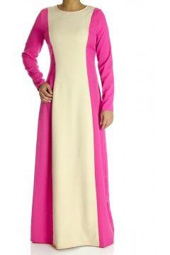 Pink  Color-Block Maxi dress
