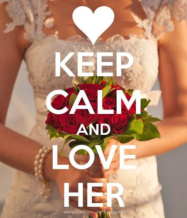 Keep Calm & Love her #Santorini #wedding