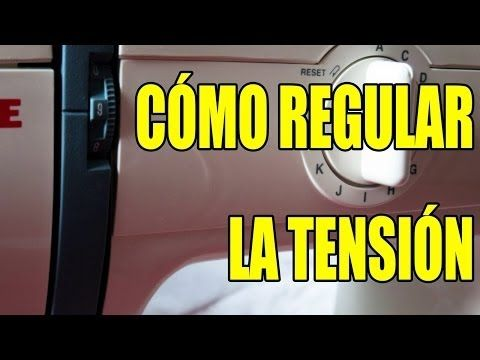 Coser a máquina: Regular tensión del hilo en la aguja - YouTube