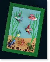 Create your very own magnetic undersea scene using Resene Magnetic Magic and a  few Resene testpots.