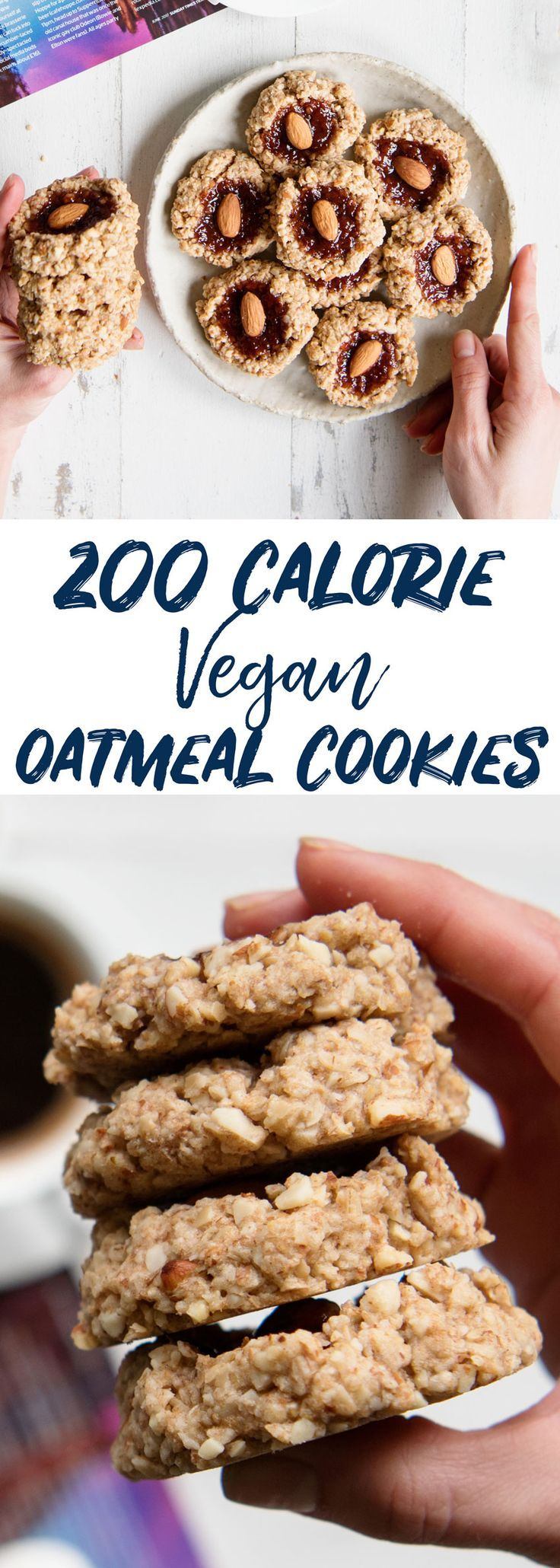 200 CALORIE Easy Vegan Cookies Recipe with Oatmeal and Almond Flour