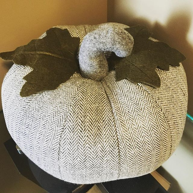 I love this #herringbone pumpkin that I picked up from @homesensecanada - it's perfect for fall, Halloween and Thanksgiving!  It's also weighted so it works great as a doorstop!⠀ .⠀ .⠀ .⠀ #pumpkin #herringbone #grey #homesense #myfind #winners #tjx #myhomesense #decor #halloween #thanksgiving #fall #autumn #stuffedpumpkin #winnersfabfinds #myfabfind #decoration #halloweendecoration #homegoodshappy #styledtosparkle #doorstop #pumpkinsoup