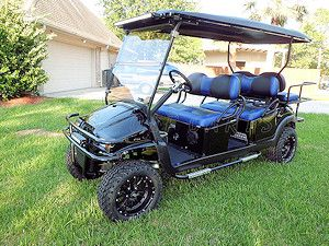 Custom 2013 Club Car Precedent 'Phantom' lifted strectched limo 6 passenger gas powered golf cart, by CKDs Golf Carts