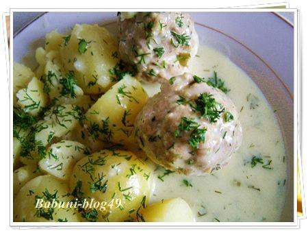 Klopsy w sosie koperkowym - babuni-