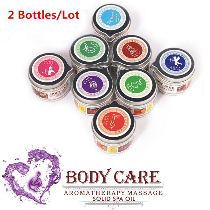 2 Pz Erotic massage oil aromaterapia oli Essenziali solido balsamo umani afrodisiaco Divertimento flirtare interesse articoli SPA massaggio candele