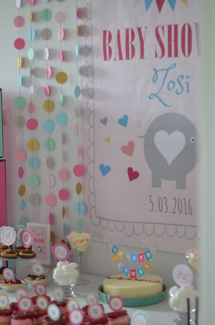 Dekoracje na Baby Shower/ Słodki stół na baby shower #babyshower