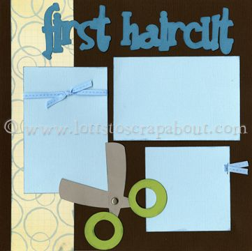 Baby Boy First Haircut Scrapbook Page Kit – Click Image to Close
