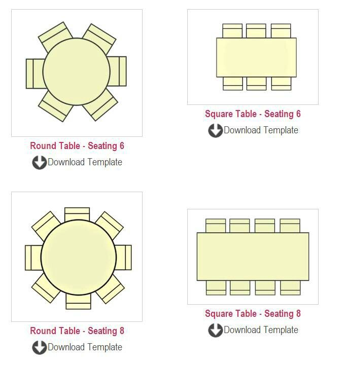 Table Seating Chart Templates