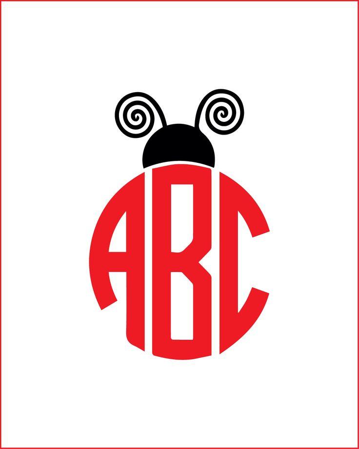 lady bug monogram vinyl decal, ladybug yeti decal, monogram tumbler decal, bug monogram car decal, cute, girly decal by ARGraphicDesigns on Etsy https://www.etsy.com/listing/496965407/lady-bug-monogram-vinyl-decal-ladybug
