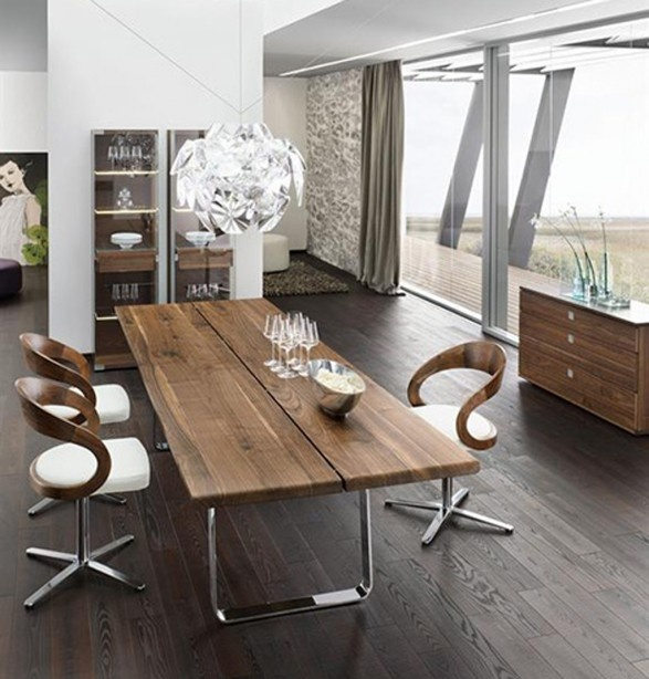 Find This Pin And More On Indian Interior Room Designs By Kaarareitzel Nox Walnut Modern Dining Table