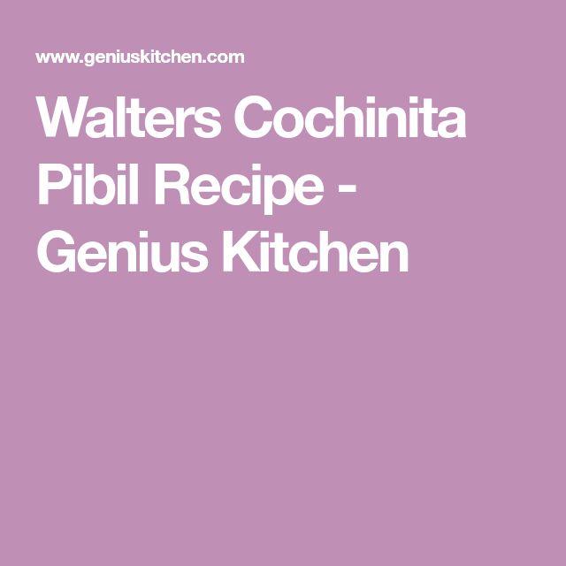 Walters Cochinita Pibil Recipe - Genius Kitchen