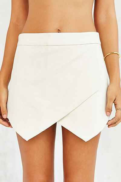 Glamorous Vegan Leather Skort - Urban Outfitters