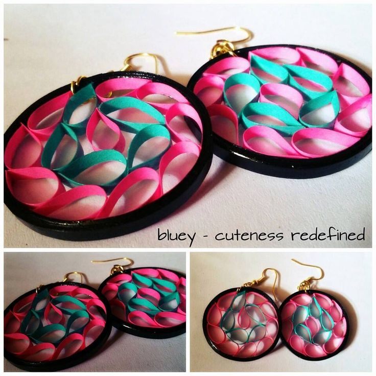 Cute quilled paper earrings