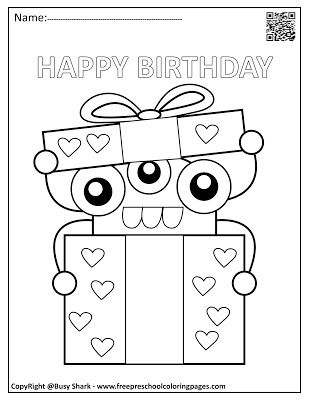 happy birthday monsters coloring pages  birthday coloring
