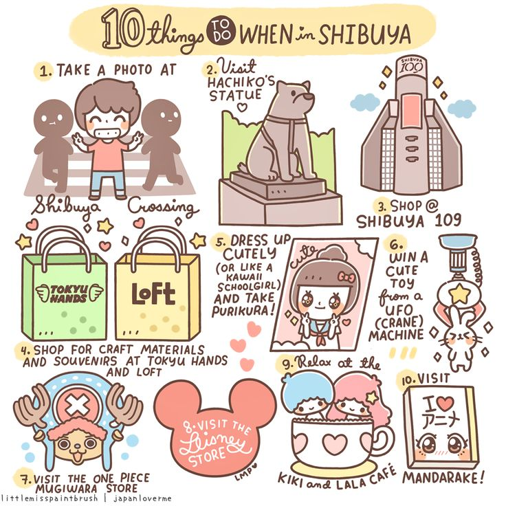 10 Things to do when in Shibuya | Little Miss Paint Brush
