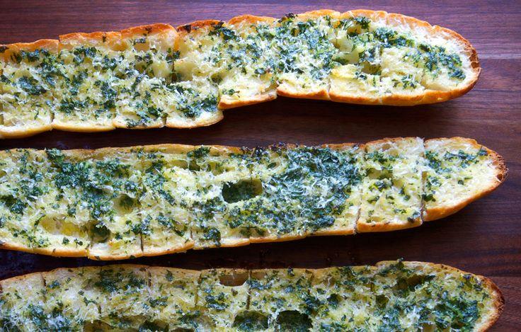 Old-School Garlic Bread by bonappetit #Bread #Garlic