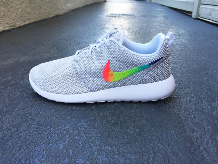 best service fa5e3 3b2bd Custom Nike Roshe Run sneakers, blue, pink, purple triangles, cute pattern,  Fashionable design, Womens sizes   Cute Pattern, Roshe Run and Roshe
