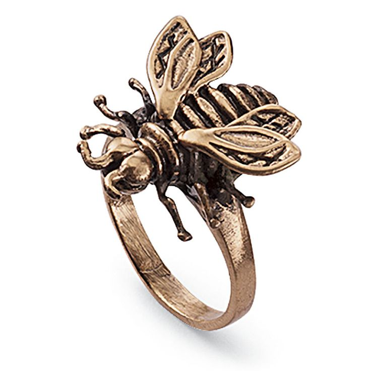 Handcrafted Copper Bee Ring