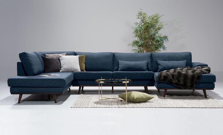 STOCKHOLM U-soffa Vänster Tove Blå
