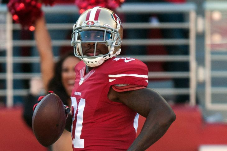 Cardinals roll over 49ers for third consecutive double-digit win  Posted by Zac Jackson on September 27, 2015, 8:27 PM EDT -   Cardinals vs. 49ers picks and predictions: Madden 16 Carlos Hyde, Colin Kaepernick lead Niners to 31-9 -  By Jess Root  @senorjessroot on Sep 26, 2015, 3:16p