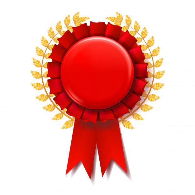Red Award Ribbon Award Ribbon Ribbon Png Background Design Vector