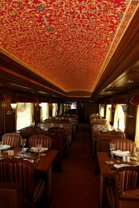 I definitely want to ride on a fancy train like this someday, how unique