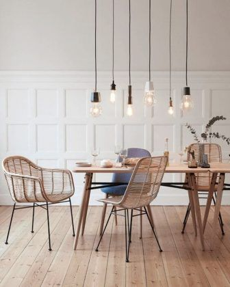 77 Gorgeous Examples of Scandinavian Interior Design Scandinavian-dining-room-with-minimalist-light-feature