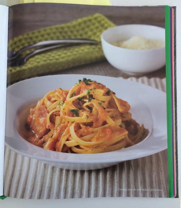 Creamy Tomato & Salami Fettucine