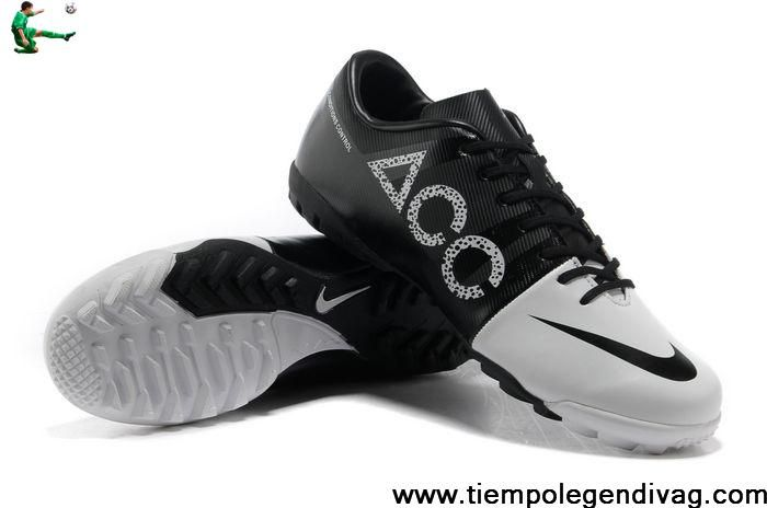 2013 New Nike GS Green Speed Concept II ACC TF Turf Football Boots - White Black Soccer Boots For Sale