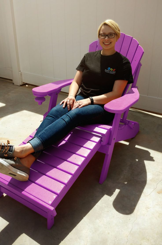 purple plastic adirondack chairs. An Eco-friendly Purple Adirondack Chair Now On Sale! Plastic Chairs