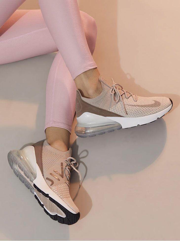 a5fb439c8 NIKE Nike Air Max 270 Flyknit Guava ice/Particle beige-desert dust SNEAKERS