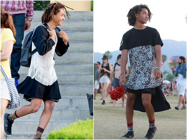 """Jaden Smith openly defies gender roles and expectations by choosing to wear clothing that goes against societies idea of what men should wear.  He demonstrates gender fluidity because although he still enjoys """"masculine"""" things, he still enjoys wearing dresses and skirts, regardless of what society has to say about it."""
