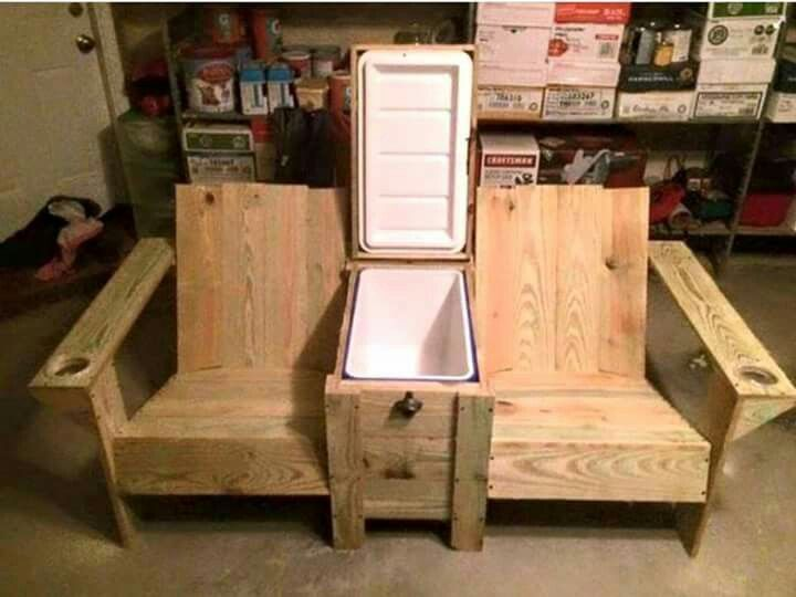 Awesome porch chair/cooler
