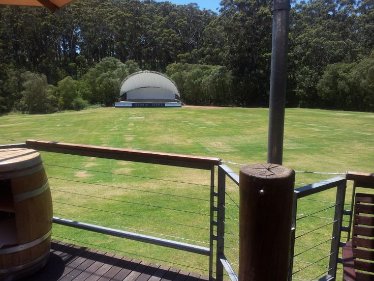 #LeeuwinEstate  #MargaretRiver view of the concert stage from the outside deck (#RNAWA13)