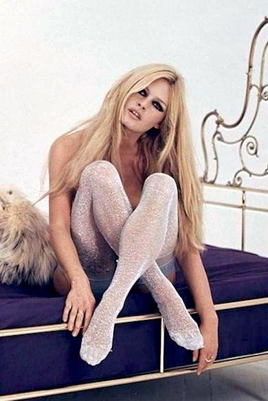 "Brigitte Bardot in ""Séance Disco,"" photographed by Sam Lévin, 1967 sparkling leggings"